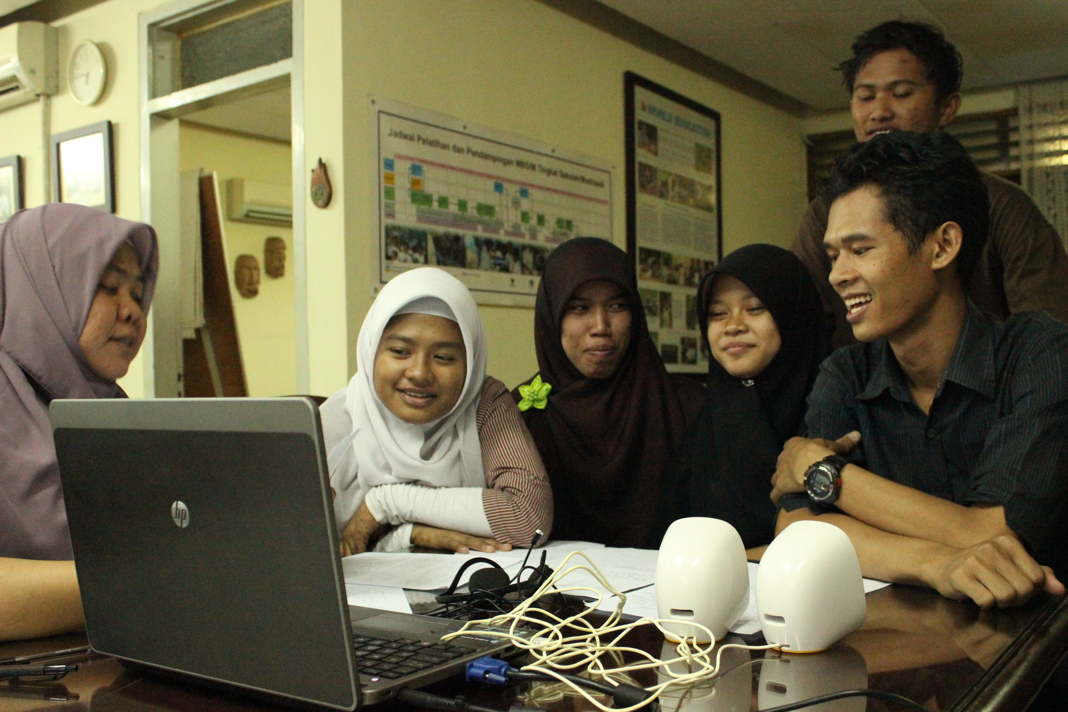 ConnectEd Indonesia students on a virtual call