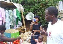 "Zambia: ""HIV education to local markets.."""