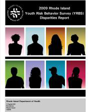 Rhode Island Youth Risk Behavior Survey (YRBS) Disparities Report