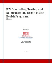 View details: HIV Counseling, Testing and Referral among Urban Indian Health Programs: A Review