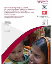 View details: GAIN Working Paper Series No. 3: Using the Code of Marketing of Breast-milk Substitutes to Guide the Marketing of Complementary Foods to Protect Optimal Infant Feeding Practices