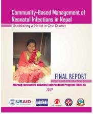 community based management of neonatal infections in nepal
