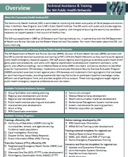 View details: Technical Assistance & Training for NH Public Health Networks