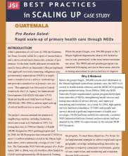 View details: Guatemala: Pro Redes Salud - Rapid Scale-up of Primary Health Care through NGOs