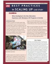 View details: Zambia: When Scaling Up is the Only Alternative: Experience with Workplace HIV Programs in Zambia