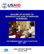 View details: Scaling Up Access to Reproductive Health Service in Romania: The Romanian Family Health Initiative 2001-2007