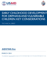 View details: Technical Brief: Early Childhood Development for OVC - Key Considerations