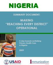 """View details: Nigeria: Summary Document, Making """"Reaching Every District"""" Operational"""
