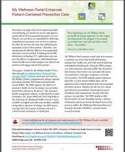 View details: My Wellness Portal Enhances Patient-Centered Preventive Care