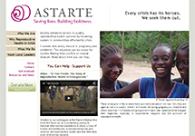 Thumbnail of the astarteproject.org home page