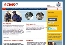 Thumbnail of the scms.pfscm.org home page