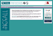 Thumbnail of the ncsall.net home page