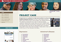 Thumbnail of the projectcare.worlded.org home page