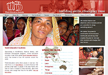 Thumbnail of the worlded.org.au home page
