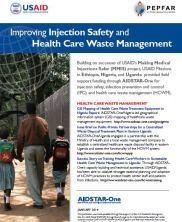 View details: Improving Injection Safety and Health Care Waste Management