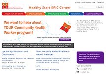 Thumbnail of the healthystartepic.org home page
