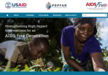 Thumbnail of the aidsfree.usaid.gov home page