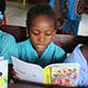 Mozambique girl reading
