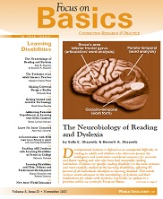 View details: Focus on Basics Volume 8, Issue D: Learning Disabilities