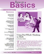View details: Focus on Basics Volume 9, Issue A: Numeracy
