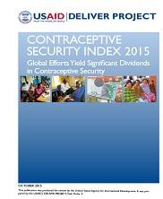View details: Contraceptive Security Index 2015: Global Efforts Yield Significant Dividends in Contraceptive Security