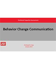 View details: Behavior Change Communication: Technical Capacity Assessment- Participant's copy