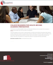 View details: College Readiness for Adults: Beyond Academic Preparation