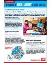 View details: JSI in Sierra Leone - Building a Resilient Sierra Leone