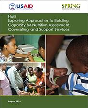 View details: Haiti: Exploring Approaches to Building Capacity for Nutrition Assessment, Counseling, and Support Services