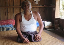 Kyaw Tint at his home in Ma Bi Lay village, Bago Region, Myanmar