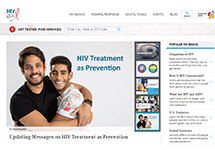 Thumbnail of the HIV.gov home page