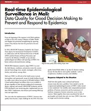 View details: Real-time Epidemiological Surveillance in Mali: Data Quality for Good Decision Making to Prevent and Respond to Epidemics