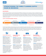 View details: Strengthening the Family Planning Supply Chain in Indonesia Results Summary