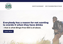 Thumbnail of the bingefree603.org home page