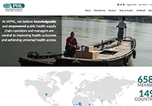 Thumbnail of the iaphl.org home page