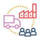 Supply Chain Management Icon for training marketing material