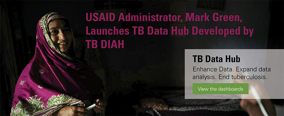 Administrator Green Launches TB Data Hub Developed by TB DIAH<br>READ MORE»