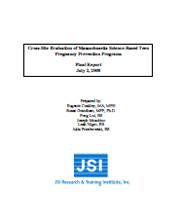 Massachusetts Teen Pregnancy Prevention Program Evaluation Report cover