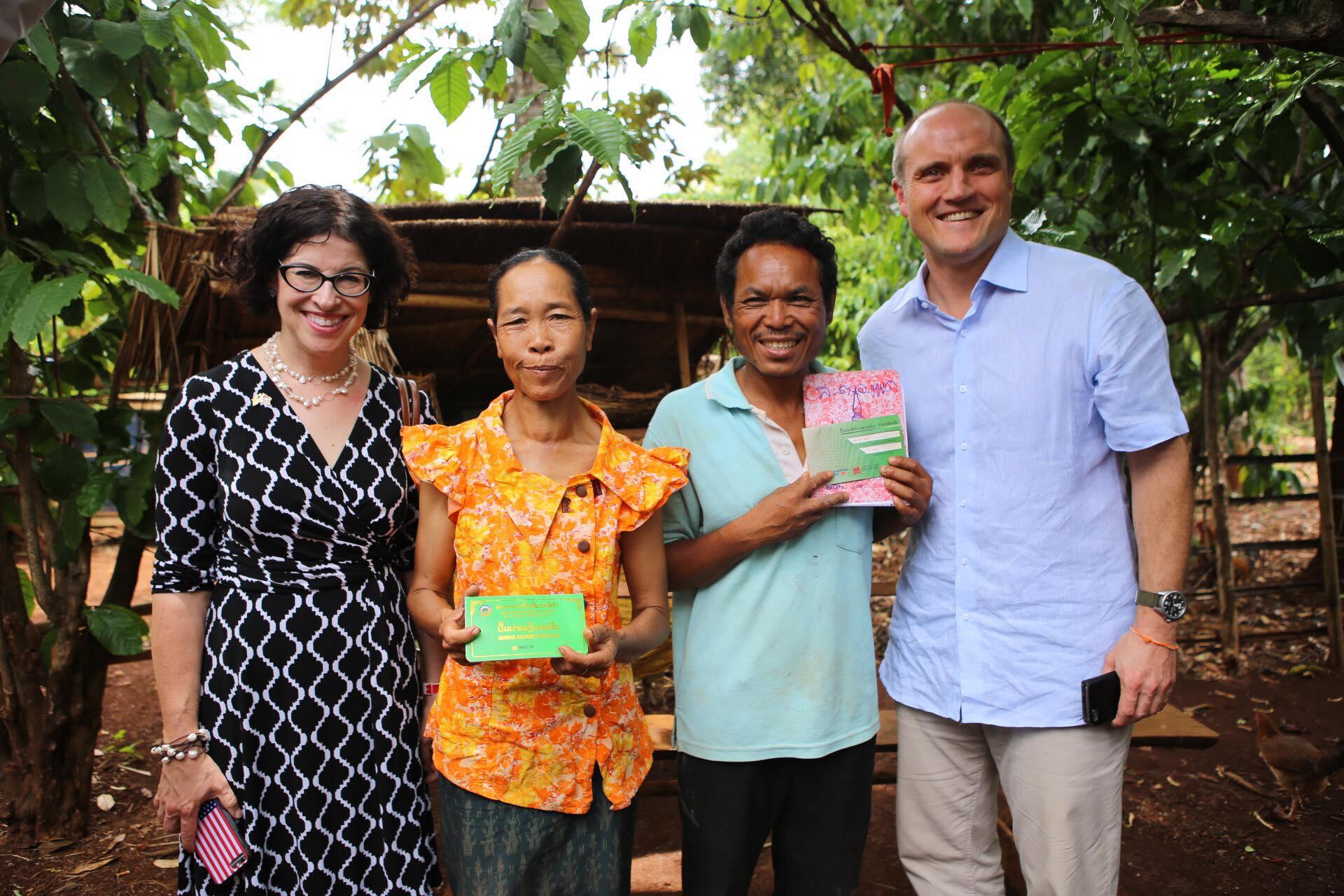 U.S. & Australian Ambassadors to Laos visit World Education livelihoods project in Laos
