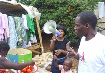 View details: Educating people about HIV prevention and care at local markets in Zambia