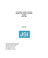Las Animas County, Colorado Health Care Needs Assessment Results