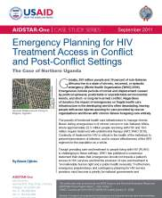View details: Emergency Planning for HIV Treatment Access in Conflict and Post-Conflict Settings: The Case of Northern Uganda