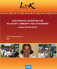 View details: Non-Financial Incentives for Voluntary Community Health Workers: A Qualitative Study