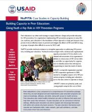 View details: NuPITA Case Study: Building Capacity in Peer Education - Giving Youth a Key Role in HIV Prevention Programs