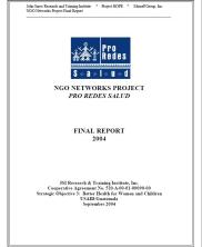 View details: Final Report: NGO Networks Project, Pro Redes Salud Project