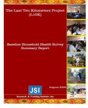 View details: Ethiopia L10K Baseline Household Health Survey Summary Report