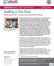 View details: Getting in the Door: Home-Based HIV Testing and Counseling in Kenya
