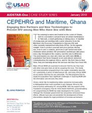 View details: CEPEHRG and Maritime, Ghana: Engaging New Partners and New Technologies to Prevent HIV among Men who have Sex with Men (MSM)
