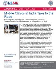 View details: Mobile Clinics in India Take to the Road: Bringing HIV Testing and Counseling and STI Services to Those Most at Risk