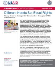 View details: Different Needs But Equal Rights: Giving Voice to Transgender Communities through ASPIDH in El Salvador